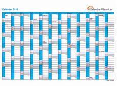 kalender 2015 in blau a4 querformat einseitig kaluhr