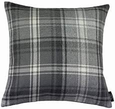 mcalister textiles angus pillow charcoal grey tartan