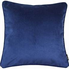 mcalister textiles velvet navy yellow grey cushion