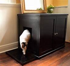 refined feline wooden litter box cabinet the green