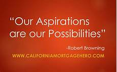 What Is Career Aspiration Our Aspirations Are Our Possibilities Inspirational Quote
