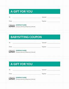 babysitting coupon templates babysitting coupon template templates at