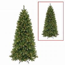 7 5 Slim Christmas Tree With Led Lights National Tree Company 7 5 Ft Lehigh Valley Slim Pine