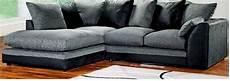 abakus direct byron corner sofa black and