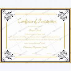 Free Printable Participation Certificates 13 Best Certificate Of Participation Templates Images On