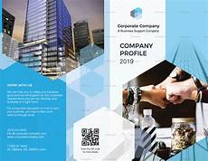 Brochure Templates For It Company Company Profile Bi Fold Brochure Design Template In Psd