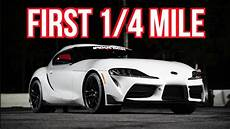 2020 Toyota Supra Quarter Mile by Drag And Dyno Test Of A Customer Owned 2020