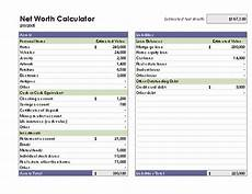 Net Worth Statement Format For Individual Net Worth Calculator