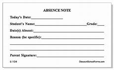 How To Write A Absent Note For School Absence Note Pad School Forms