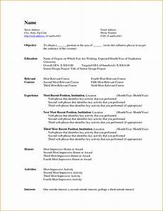 Ms Word Resume Template 2007 Minimalist Resume Templates Microsoft Word 2007 Curriculums