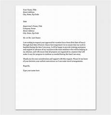 Emergency Vacation Request Letter Vacation Leave Request Letter How To Write With Format