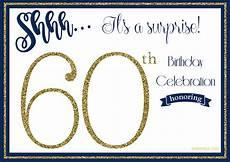 Free Printable 60th Birthday Invitations Templates Free Printable 60th Birthday Invitations Drevio