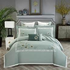 cotton embroidery bedding set luxury king