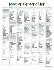 Typical Grocery List Master Grocery List Pdf File Printable Etsy Master
