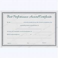 Product Performance Certificate Format Best Performance Award Certificate 08 Award Certificates
