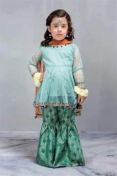 Baby Farooq Design Kids Short Frock With Gharara Designer Dress By B