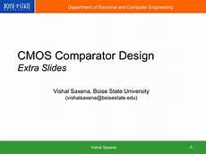 Cmos Comparator Design Project Cmos Comparator Design