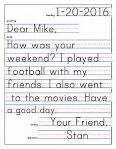 Example Of A Short Friendly Letter Friendly Letter Template And Example Kindergarten And