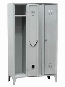 armadietto per spogliatoio armadietto spogliatoio a 3 scomparti cm 105x35x180 h con