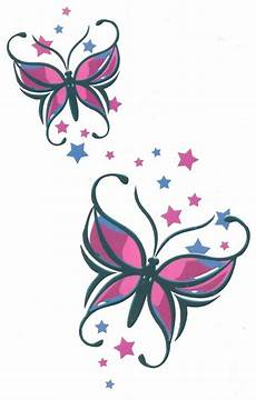 Star Butterfly Designs Butterfly Stars Sheet Tat 4 50 X 7 Big Size Brand New