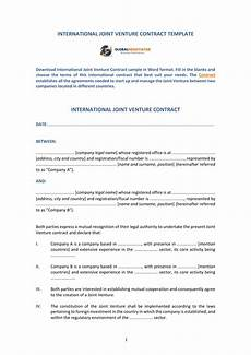 Joint Venture Contract Free 5 Joint Venture Contract Forms In Pdf Doc