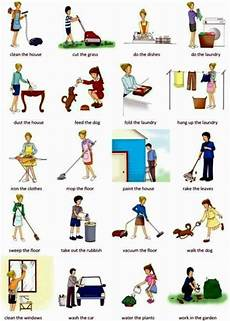 List Of House Chores Learn English Vocabulary Daily Routines And Household