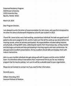 Sample Medical School Recommendation Letter Free 8 Medical School Recommendation Letter Templates In