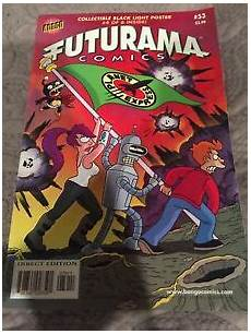 Futurama Light Futurama Bongo 53 Vf Condition With Black Light Poster