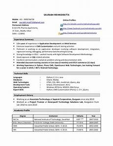 Resume Format Experienced Software Engineer Sample Resume For Experienced Software Engineer