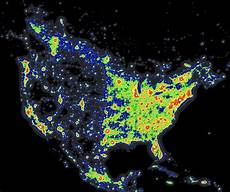Light Pollution Map Iceland The Way This Us Light Pollution Map Cuts Down Right In The