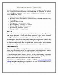 Account Manager Job Description Sample Account Manager Job Description Templatescoverletters Com