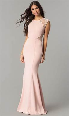 sleeve formal dress free formal prom dress with lace cap sleeves promgirl