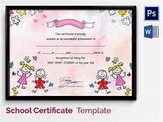 Free Certificate Template For Kids School Certificate Template 17 Free Word Psd Format