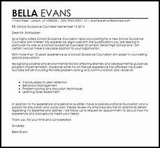Counselor Cover Letter Samples School Guidance Counselor Cover Letter Sample Cover
