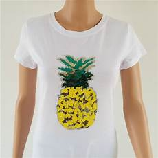 pineapple clothes yr porzingis pineapple sequins t shirt s tops