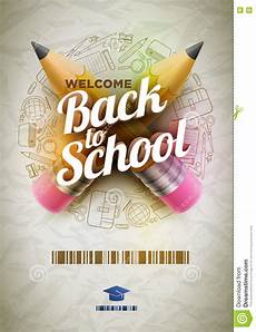 Welcome Back Poster Welcome Back To School Poster Stock Vector Illustration