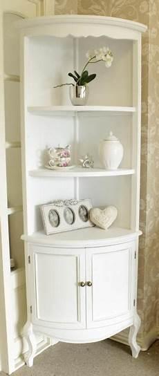 white corner shelf unit with cupboard melody maison