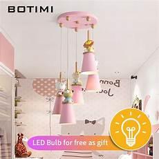 Baby Girl Room Light Fixtures Botimi Led Pendant Lights For Kids Room Pink Children Lamp