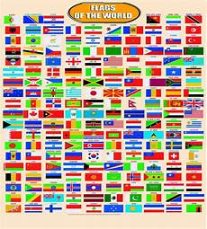 Flags Of The World Chart Printable Huge Laminated World Country Flags Learning Educational