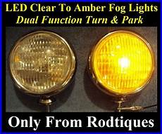 Amber Driving Lights Led Clear To Amber Turn Signal Park Driving Chrome Fog
