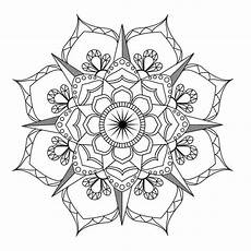 Malvorlagen Blumen Mandala Flower Mandala Coloring Page Coloring Therapy