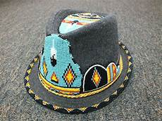 hat beaded with american nw creations and