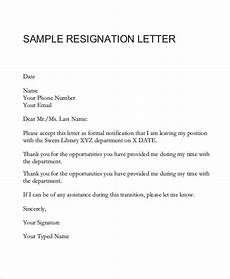 How To Do A Resignation Letter Free 7 Resignation Letter Samples In Ms Word Pdf