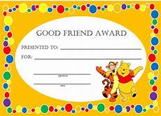 Child Award Certificate Kids Awards And Certificates
