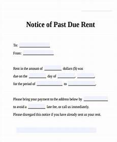 Past Due Rent Letter Free 33 Notice Form In Examples Pdf Doc