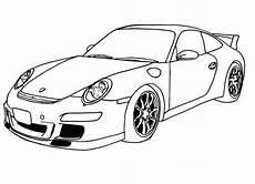 racing car porsche ready to race coloring page autos