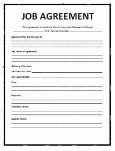 Bill Format For Works Contract Job Agreement Template Word Excel Amp Pdf Templates
