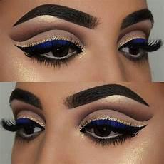 royal blue makeup idea for or bridesmaids at wedding
