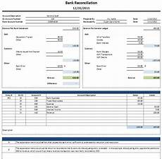 Account Reconciliation Template Excel Free Excel Bank Reconciliation Template Download