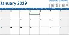 Vertex42 Calendar 10 Excel Calendar Templates 2020 Monthly Printable